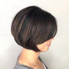 60 Best Short Bob Haircuts and Hairstyles for Women - Short Feminine Bob - Bob Haircut For Fine Hair, Bob Hairstyles For Fine Hair, Short Bob Haircuts, Haircuts With Bangs, Hairstyles Haircuts, Short Feminine Haircuts, Hairstyle Men, Formal Hairstyles, Black Hairstyles