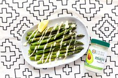 Grilled Asparagus with Avocado Oil Mayo drizzle