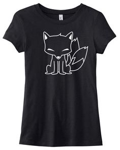 Kitsune Tee  cute japanese fox shirt kawaii by gesshokudesigns