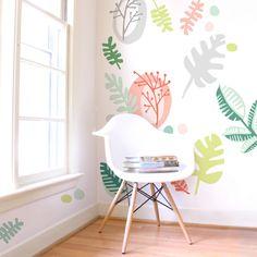 Tropics - Fabric Wall Decal - Tropical - Mej Mej by ShopMejMej on Etsy https://www.etsy.com/listing/456871934/tropics-fabric-wall-decal-tropical-mej