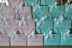 Blue party favor bags for any occasion cusomization included Tiffany Blue Party, Tiffany Birthday Party, Tiffany Theme, Tiffany And Co, Birthday Parties, Tiffany Wedding, Pink Party Favors, Party Favor Bags, Favor Boxes