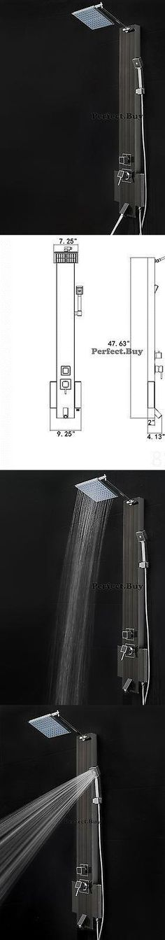 Massagers: 48 Black Coated Stainless Steel Shower Tower Head Panel Function Wand Handheld BUY IT NOW ONLY: $149.0 #priceabateMassagers OR #priceabate