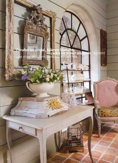 I like the idea of the frame around the mirror.  I might try this at my house.