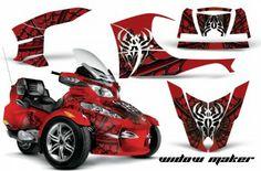 Huge selection of Can Am - Spyder RTS Graphic Kits with a UV protected, scratch resistant over-laminate that holds up against harsh riding conditions. Over 70 designs to choose from… Trike Motorcycle, Motorcycle Travel, Can Am Spyder, Sport Bikes, Trips, Motorcycles, Garage, Graphics, Kit