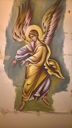 D N Angel, Angel Art, Byzantine Art, Byzantine Icons, Religious Icons, Religious Art, Order Of Angels, Archangel Uriel, Saints And Sinners