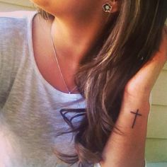 I love my skinny cross tattoo! So dainty  cute! ❤