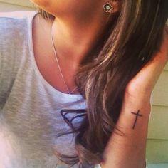I love my skinny cross tattoo! So dainty  cute! ❤