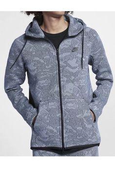 83cee45e9470 Nike NSW Tech Fleece Hoodie 863814-466 Hydrogen Blue New Mens Sz XL