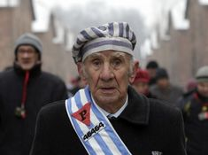 Holocaust survivor at international holocaust remembrance day 2014 in Auschwitz - Imgur