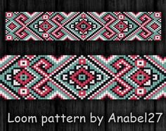 Loom pattern bead pattern beaded pattern 18 by Beaded Braclets, Bead Loom Bracelets, Beaded Bracelet Patterns, Peyote Patterns, Beading Patterns, Bead Sewing, Seed Bead Patterns, Bead Crochet Rope, Loom Beading