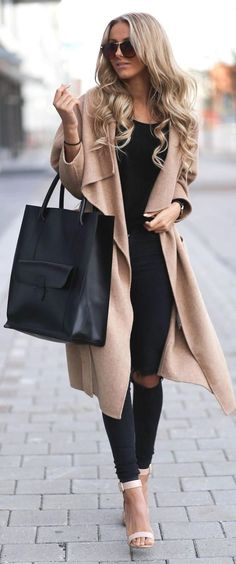 9 to 5 duster coat & bag