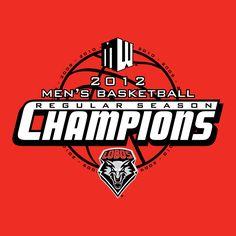 UNM Men's Basketball Champions design and tshirts.