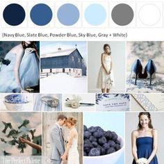 Blue Wedding Color Board