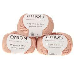 Fersken / rosa økologisk bomuldsgarn fra Onion - 35 kr. per 50 gram