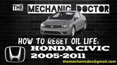 This video will show you step by step instructions on how to reset your oil life indicator on a Honda Civic 2005-2011.