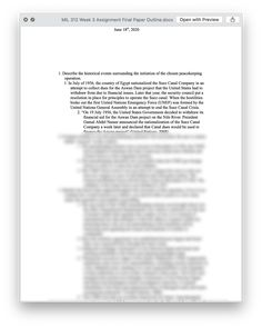 Ashford MIL 312 Week 3 Assignment Final Paper Outline Paper Outline, Rough Draft, Case Study, Finals, Texts, Lettering, Words, Study Guides, Homework