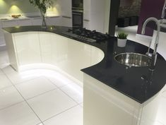 Curved kitchens from lwk kitchens german kitchen supplier for Curved kitchen units uk