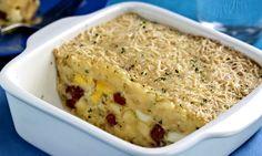 Enformado de batata com queijo