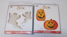 Sizzix dies lot Halloween originals Pumpkins Ghosts 655005 655006 Paper Crafts #Sizzix