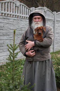 Orthodox Way of Life — Aww how cute :) Orthodox Priest, Orthodox Christianity, Images Of Faith, Orthodox Prayers, Dachshund Love, Orthodox Icons, Way Of Life, Mans Best Friend, Dog Love