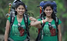 Tashi and Nungshi Malik just became the youngest people to ever complete the Explorers Grand Slam – making it to the North Pole, the South Pole AND the highest peak on every continent. Double Trouble, Twin Peaks, Ted Talks, Looking Up, Girl Boss, Year Old, Girl Power, Climbing, Twins