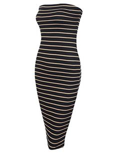 New Trending Formal Dresses: DRESSIS Womens Casual Summer Striped Strapless Bodycon Stretchy Short Tube Dress BLACKTAUPE S. DRESSIS Women's Casual Summer Striped Strapless Bodycon Stretchy Short Tube Dress BLACKTAUPE S  Special Offer: $19.99  477 Reviews Looking for a perfect Summer dress? our DRESSIS striped tube dress may be your choice! Featuring elastic chest band, stretchy and soft fabric,...