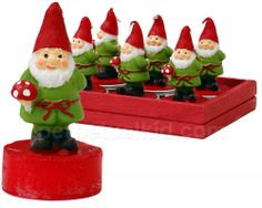 GARDEN GNOME TEA LIGHTS. Not exactly 'Haunting,' but I have a serious weakness for gnomes.