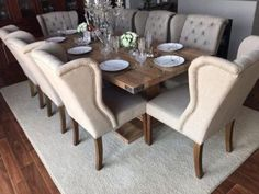 Hartford Grey Double  Seater Extending Dining Table From Next - 10 seater dining table