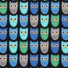 http://www.kawaiifabric.com/en/p9291-black-Robert-Kaufman-fabric-cute-green-blue-grey-owl-bird.html