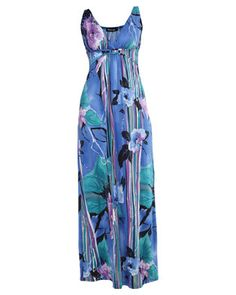 Turn heads in this gorgeous Printed Maxi Dress by Revenge. This flattering design is multi-coloured,while it showcases a beautiful, bold print. Featuring an empire waistline and asleeveless cut, it is completed with a low v-neckline and a long, maxi length.Perfect for a casual occasion, pair it with sandals and you\'re good-to-go.