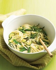 Get an instant taste of spring with this one-pot pasta. In 20 minutes, you'll have linguine in a silky sauce with crisp-tender asparagus and snap peas.