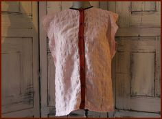 Anthropologie Loup Button Down Blouse Size M Striped Cap Sleeves Casual Cute
