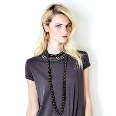 SOLLIS Jewellery DAHLIA and VOX necklaces and ZIG earrings. http://WWW.SOLLISJEWELLERY.COM