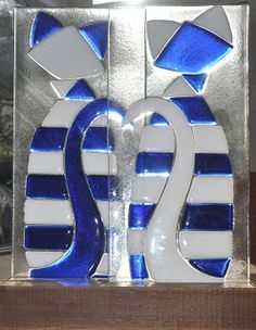 Glass Cats and Dogs on Pinterest | Fused Glass, Stained Glass and ...