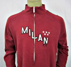 Milan F.C. Blue Marlin 5 Star Full Zip Track Jacket Warm Up Medium #BLUEMARLIN #TracksuitsSweats