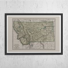 High Quality Fine Art Reproduction of an Antique Map. Vintage Map Print. Classic Historical Wall Art. Map Print Wall Art Home Decor. Antique