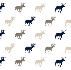 Buck Fabric  Multi Buck // Rustic Woods Collection by Spoonflower