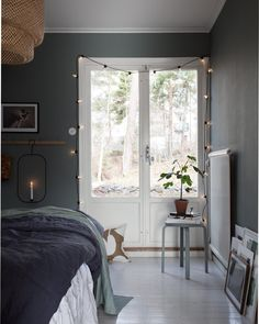 my scandinavian home: Green and Pink Accents in a Beautiful Swedish Family Home Home Bedroom, Bedroom Decor, Design Bedroom, Home And Living, Home And Family, Scandinavian Home, My New Room, Simple House, Room Colors