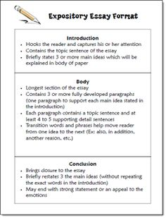 Expository Essay Format freebie in Laura Candler's Writing File Cabinet