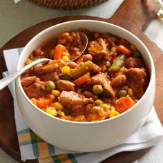 Zesty Beef Stew Recipe from Taste of Home -- shared by Margaret Turza of South Bend, Indiana