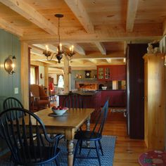 This was the same Primitive Kitchen that I just posted, but now you have a view from the informal dining room. I really want a fireplace in my kitchen for my next house.
