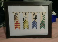 Harry Potter House Banners. Pattern from Cloudsfactory.
