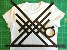 How to make a geometric 80's looking t shirt with fringe