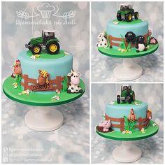 farm cake Farm Cake, Fondant, Desserts, Food, Art Cakes, Fondant Icing, Postres, Deserts, Hoods