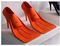 Here's ya some footwear for all you that love to swim!!!!  From church to the water!  Love it!  lol