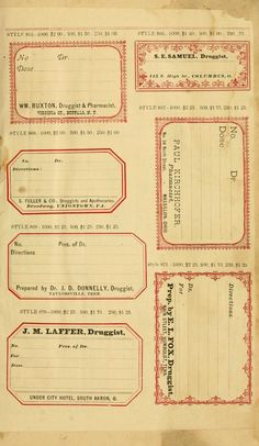New sample book of cut and gummed druggists' la...