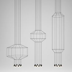 Arik Levy takes lighting to a whole new level with his latest for Vibia called WIREFLOW. Composed of thin rods, the geometrical sculptures appear to be almost like two dimensional line drawings. Take a step to the left or right and you see that some are even three dimensional forms suspended in the air holding LED lights.