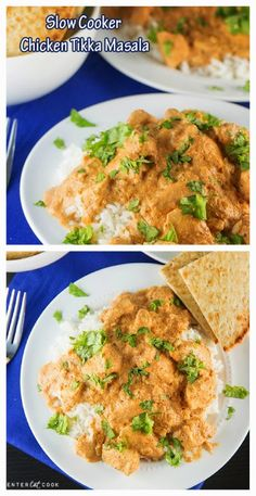 Slow Cooker Chicken Tikka Masala- serve with cauliflower rice!