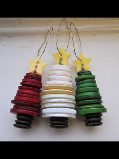 Upcycle buttons for DIY Christmas Ornaments