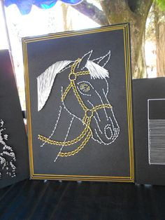 Diy how to make a string art horse stall sign do it yourself strings arts horse diy solutioingenieria Gallery